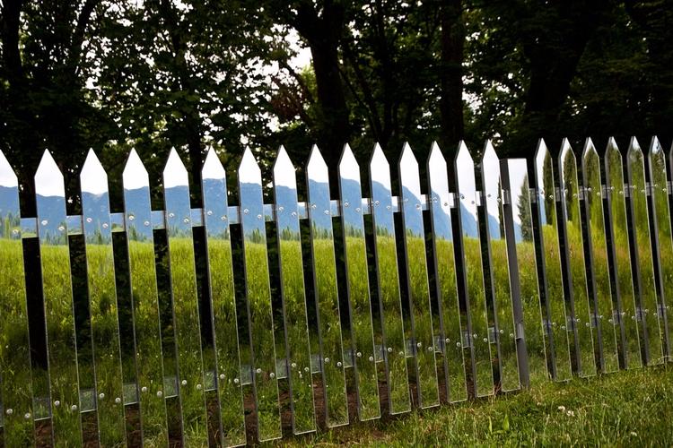 Mirror Fence mirrored fence con - modernism_is_crap | ello
