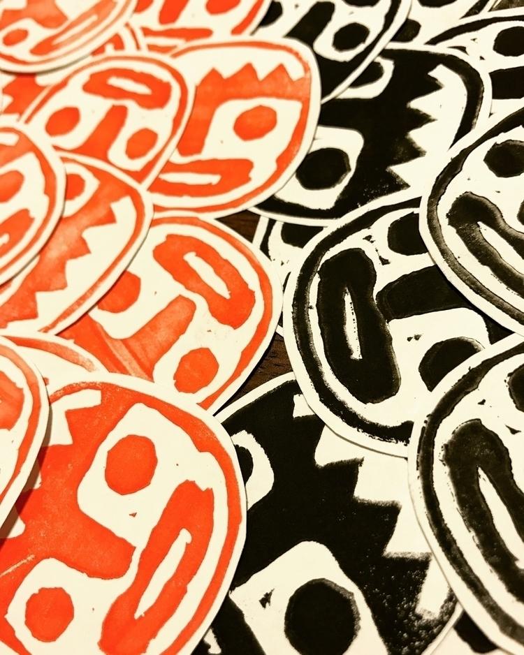 stickers, rubbercutstamp, diy - thesleepinghorse | ello