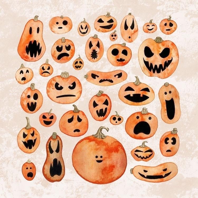 meant draw pumpkin, hand slippe - zowiegreen | ello