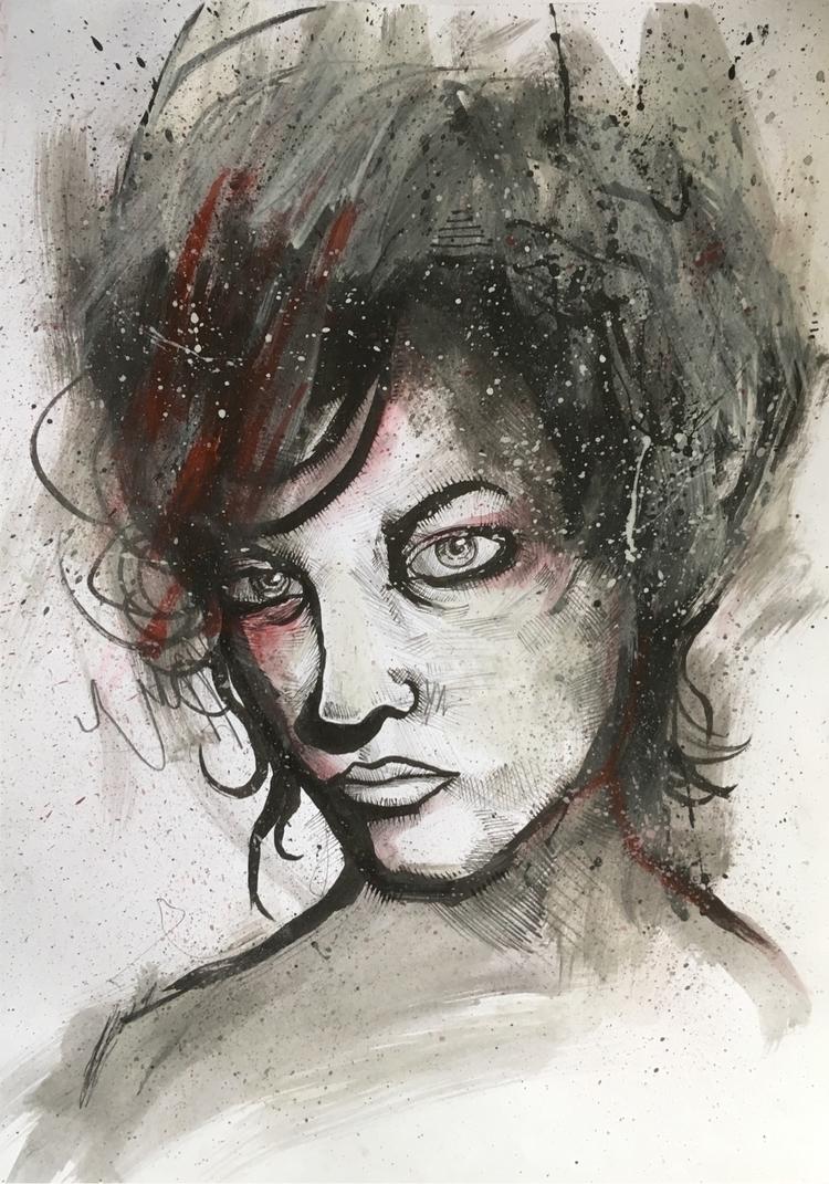 uploading art - artwork, portrait - jordansummers | ello