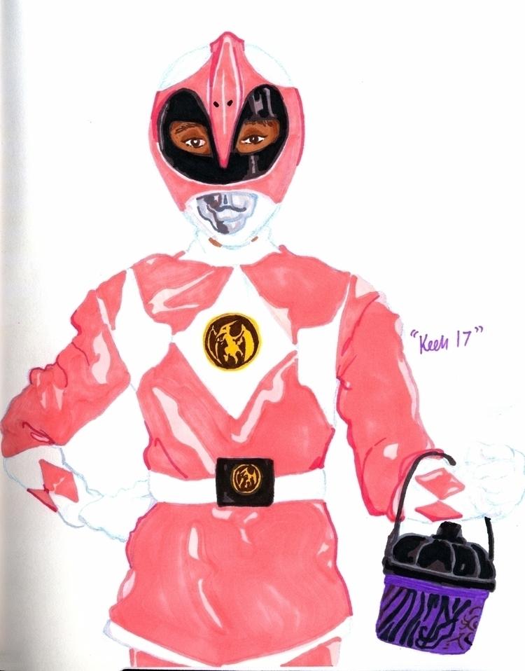 Kimberly Pink Ranger (2017 - inktober2017 - ccmicheau | ello