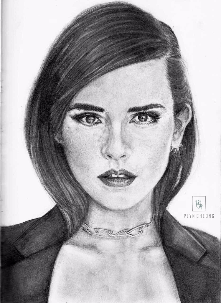 emmawatson, portrait, drawing - plyncheong | ello