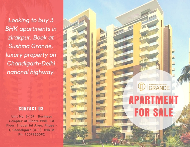 3 BHK 4 apartments sale zirakpu - sushma-buildtech | ello