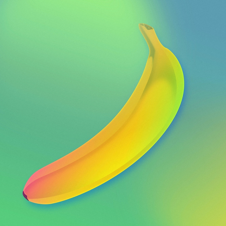 Neon Banana - neon, futuristic, futurism - filianstudio | ello