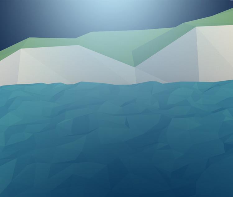 'sea cliffs moonlight - orchielucas | ello