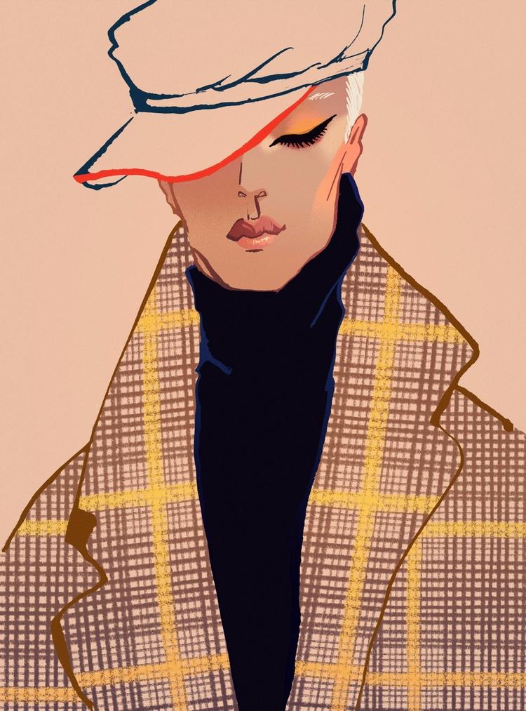 Girl Trench Coat - Fashionillustration - eunjeongyoo | ello