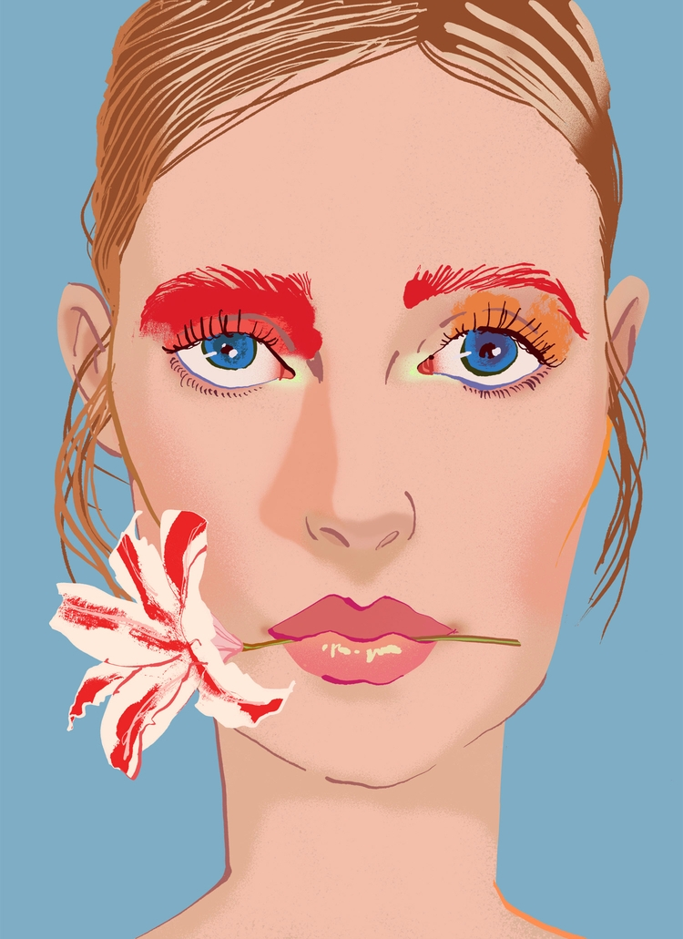 Girl flower - NewPortrait, Fashionillustration - eunjeongyoo | ello