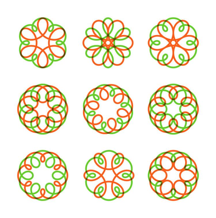 Spirograph - spirograph, rainbow - benderski | ello