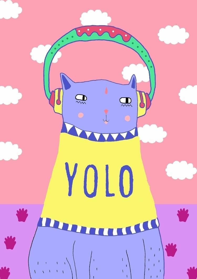 KOOL KAT - cats, quotes, yolo, dj - saif-9654 | ello