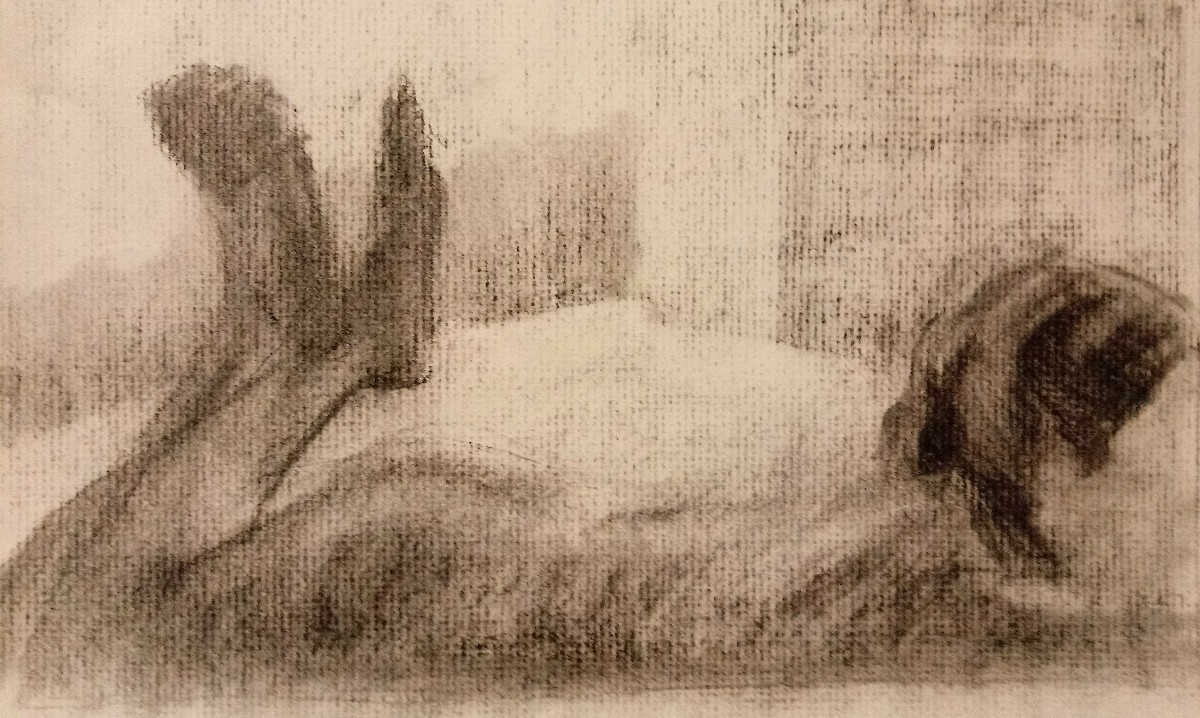 drawing,, charcoal,, figure - mmeehan | ello