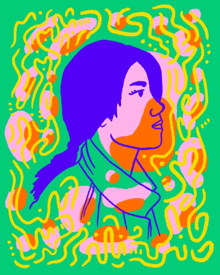 piece illustrated portrait seri - heybop | ello