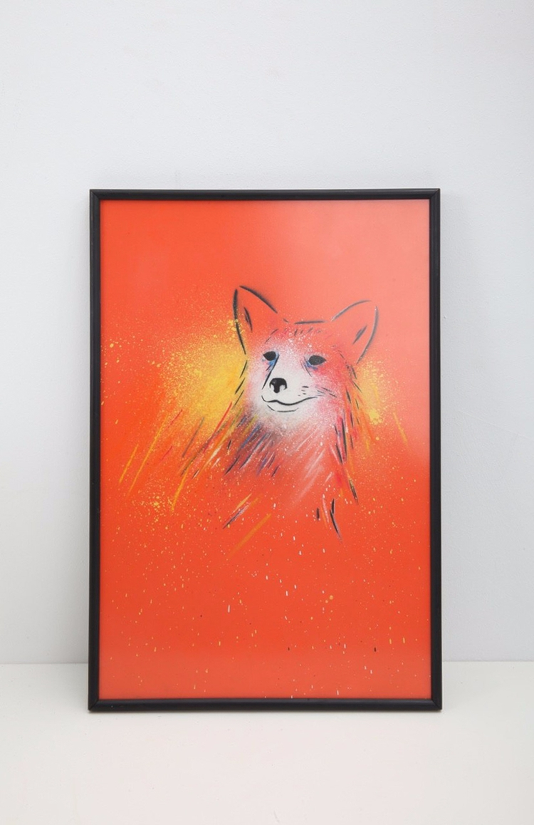 fox dos - illustration, spraypaint - werlord | ello