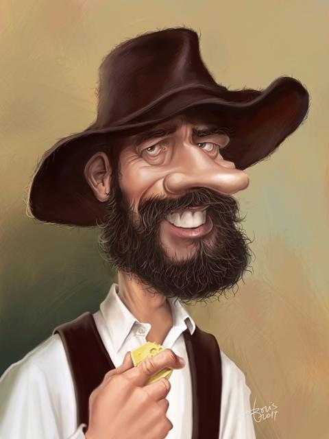 Pustotnik - caricature, digitalpainting - karikatureboris | ello