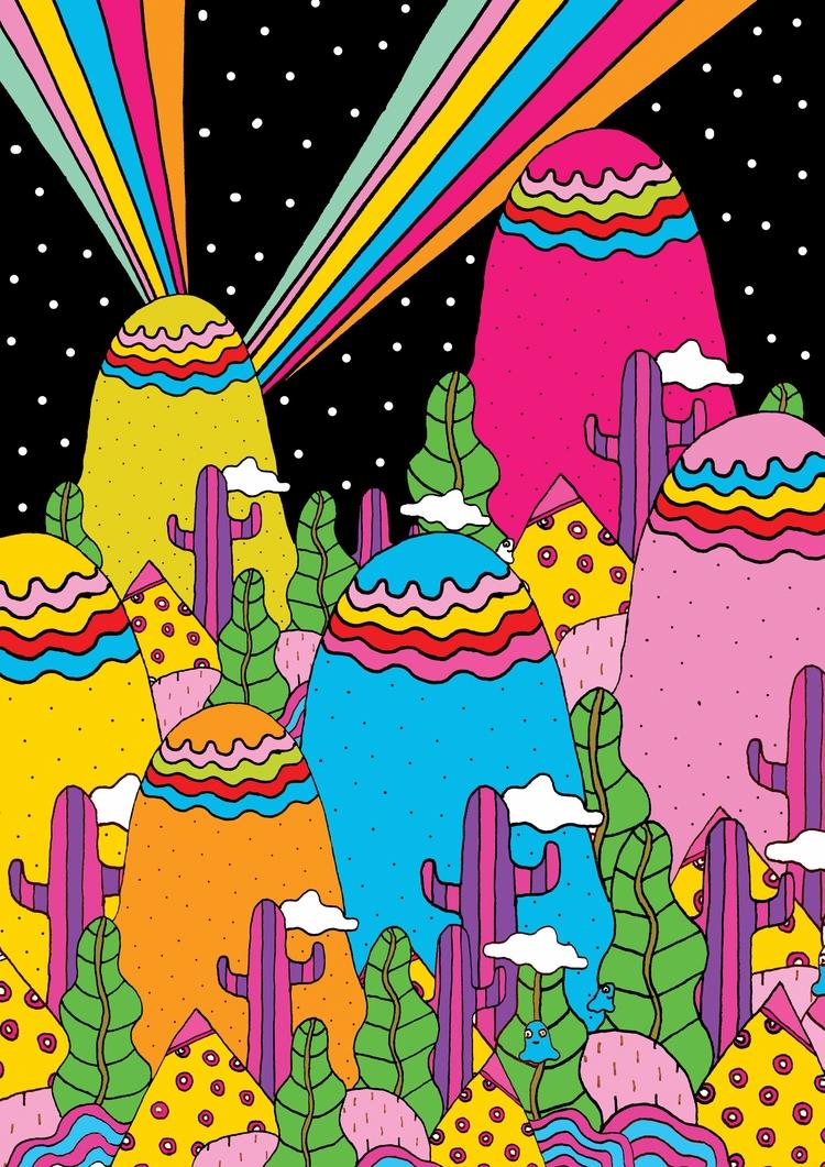 Night Sky Rainbow - saif-9654 | ello