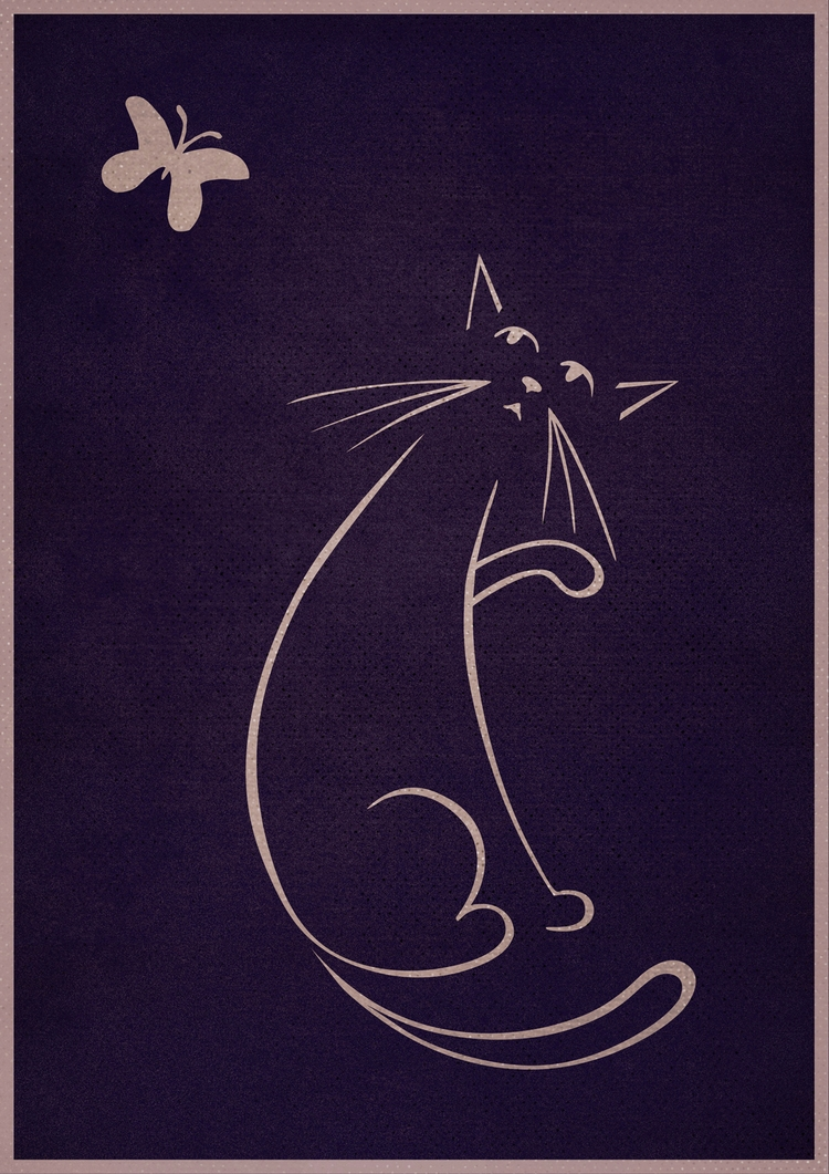 Cat Butterfly - johnjgriffiths | ello