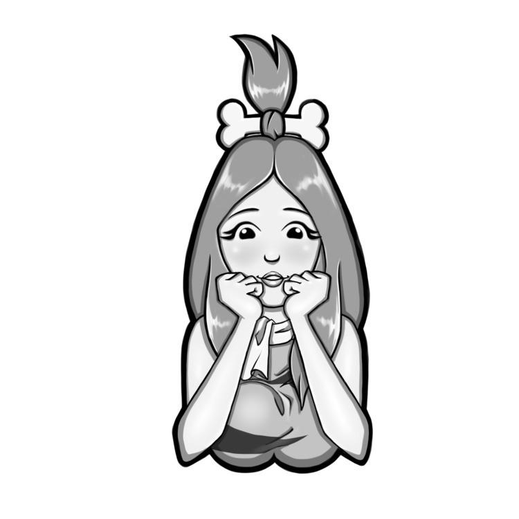 Teen Pebbles bust, 2017. cute - art - lewdatic | ello