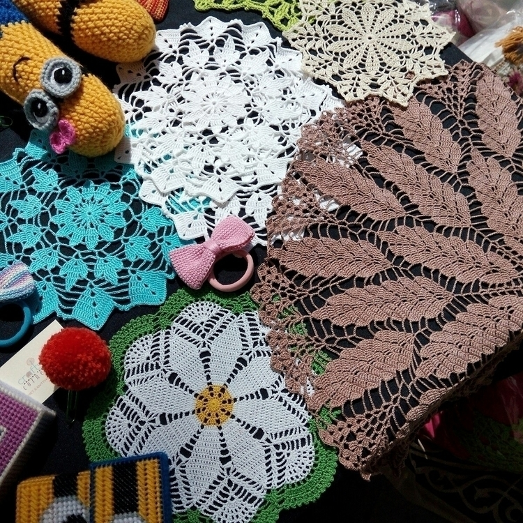 crochet, doilies, art, colours - craftsaroundthecorner | ello