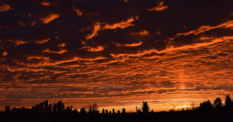 Red sky morning - sunrise, calgary - camwmclean | ello