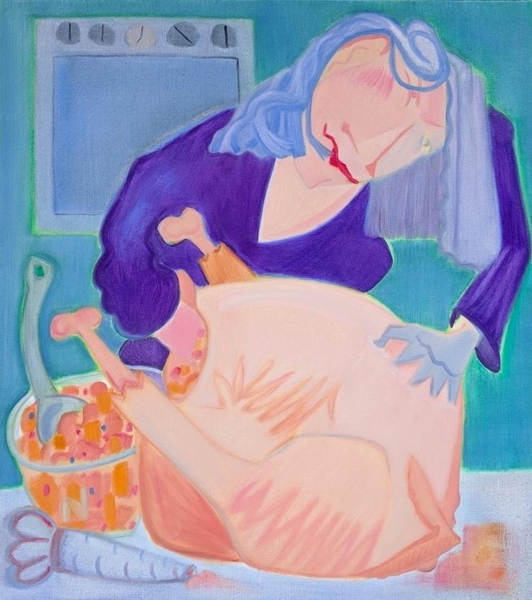 Birdie Stuffer oil/canvas, 40x3 - markbarry | ello