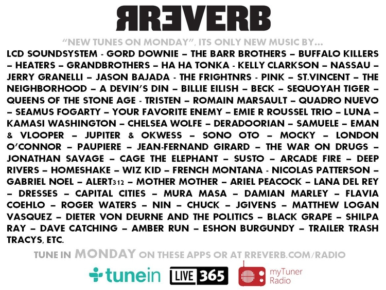 TUNE Today RREVERB Radio, 100%  - rreverb | ello
