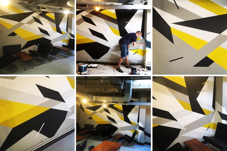 Mural commission - Werks Group - markmcclurestudio | ello