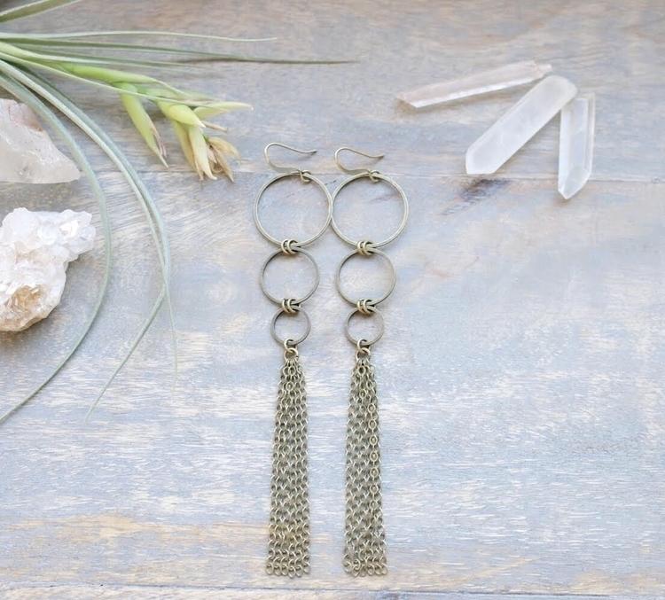 Handmade, brass earrings emmand - emmandflow | ello