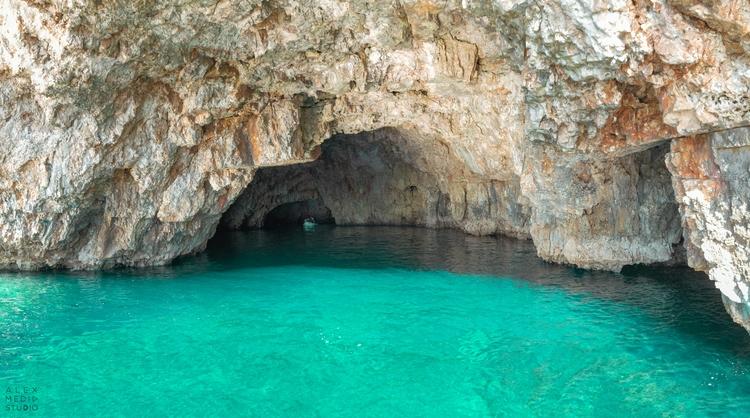 green cave island Vis, Croatia - alexmediastudio | ello