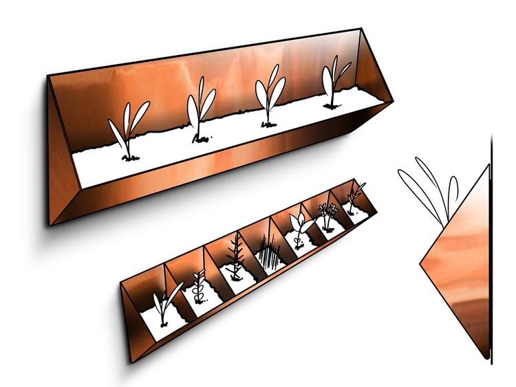 Magnetic Planter. Copper plante - jamesowendesign | ello