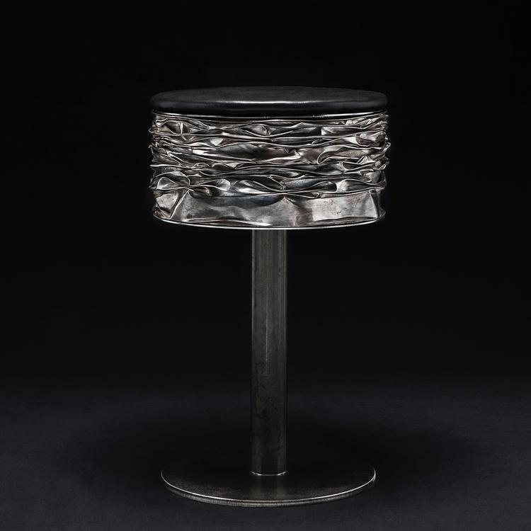 stool. Metal leather PH-Ferdina - ferruccio-maierna | ello