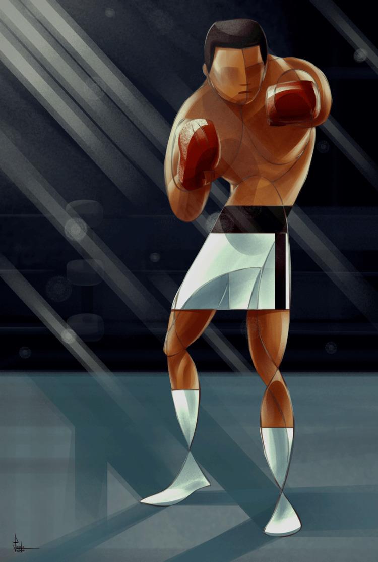 Muhammad Ali, digital illustrat - paolovoto | ello