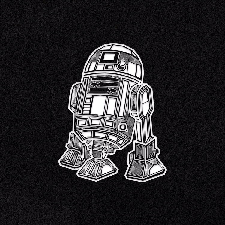 droid R2D2 illustration sale Th - perezism_art | ello