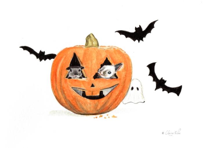 Happy Halloween - halloween, bunnies - j0eyg1rl | ello