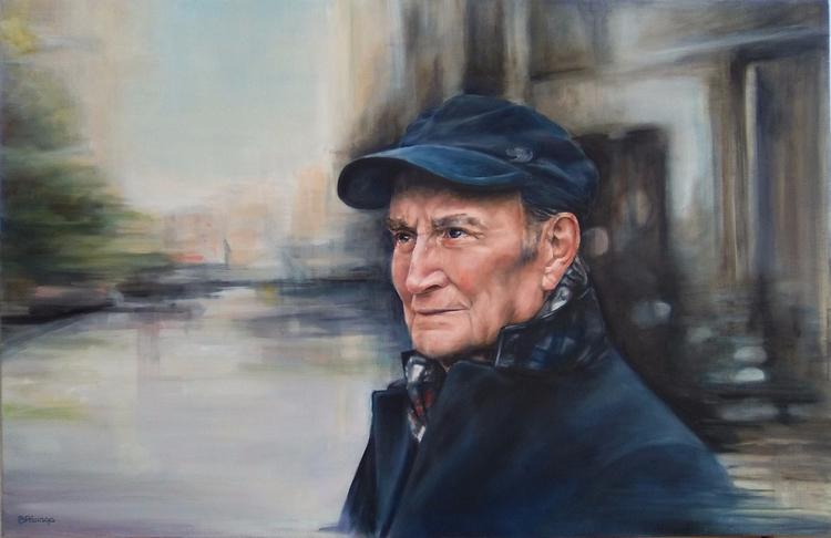 Poeta Marcos Ana. Oil canvas 10 - barbara_parraga | ello