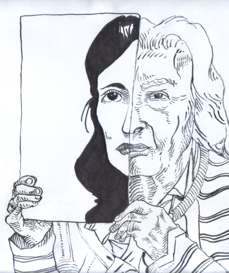 Ink, sketch, woman, inktober - nkdk | ello