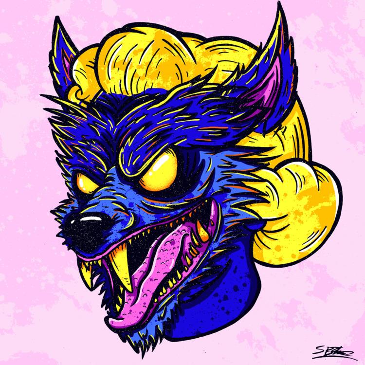 Werewolf Head! samuelbthorne.co - samuelbthorne | ello