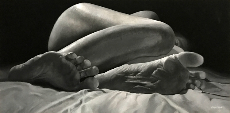 Asleep 20x40 Oil Linen Submitte - katayounstewart | ello