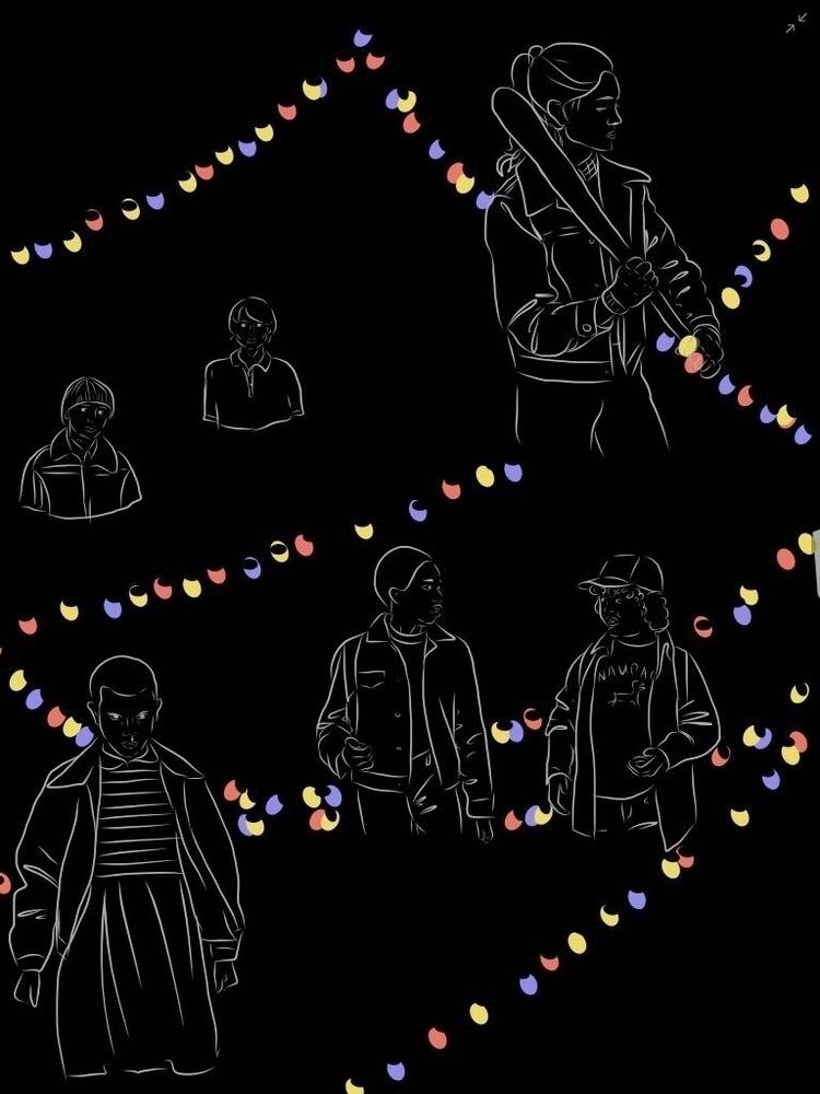 Stranger - inktober2017, linework - rodina | ello