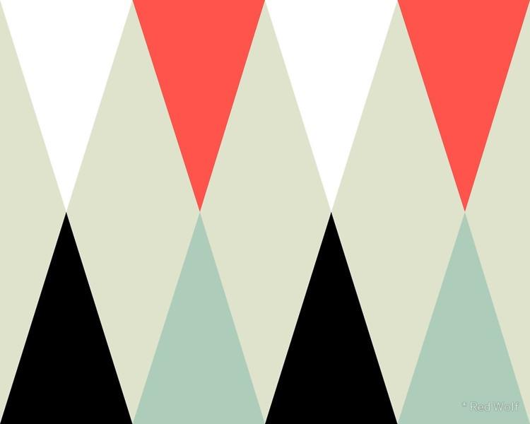 Geometric Pattern: Harlequin: R - red_wolf | ello