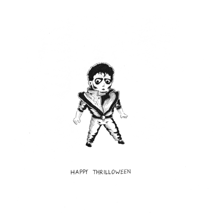 Happy Halloween - inktober, illustration - leebert | ello
