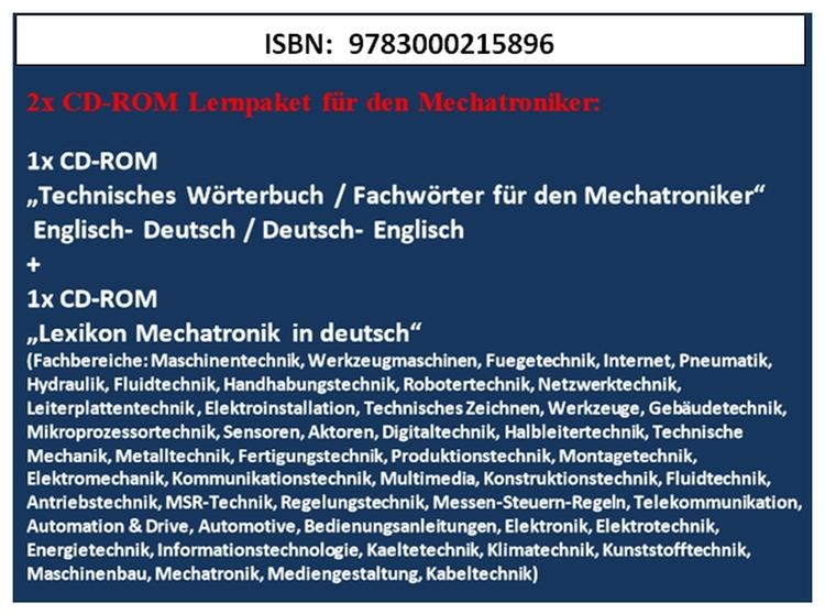 1. dictionary + 2. lexicon: CD - mechatronik-lehrmittel-wagner | ello