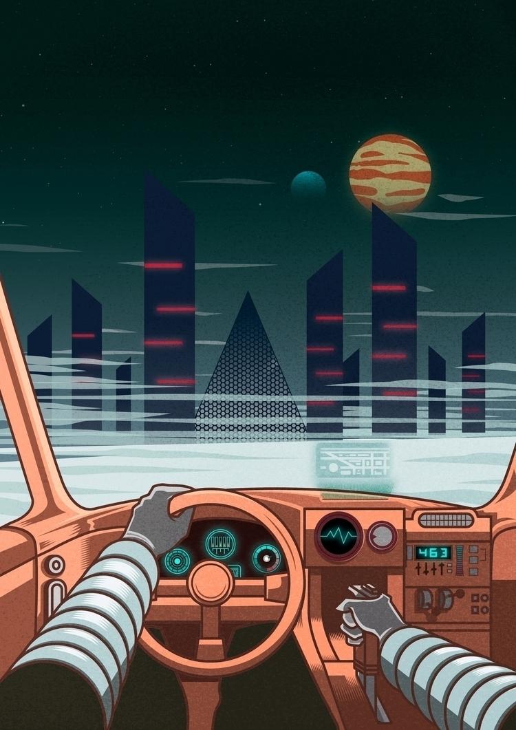 Night driver Submitted - illustration - juliusllopis   ello