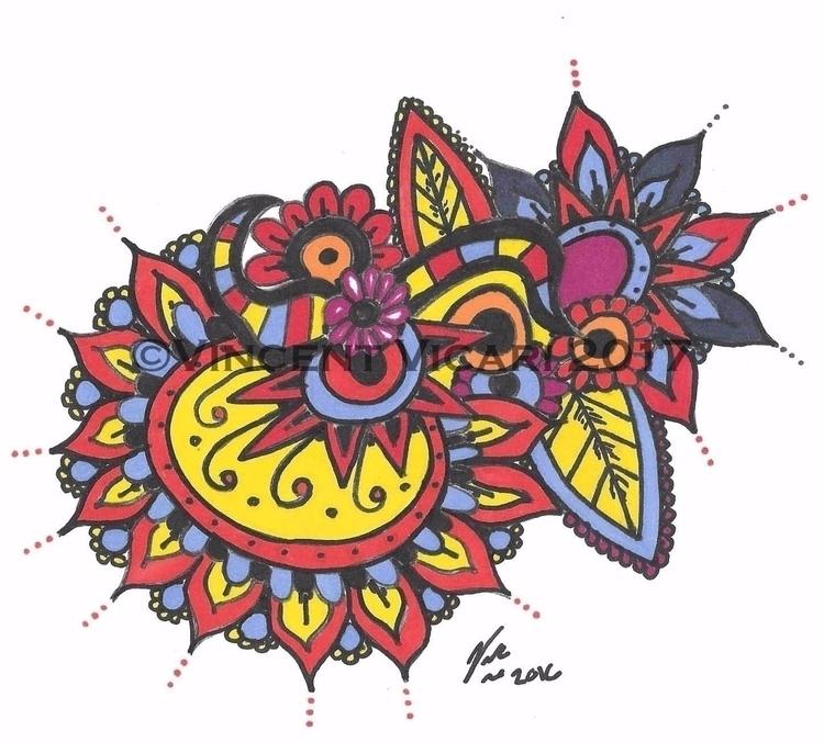 mandala, zentangle, art, color - vincentvicari   ello
