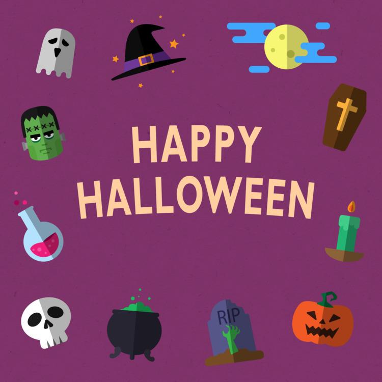 Illustration: Happy Halloween 2 - wvw001 | ello