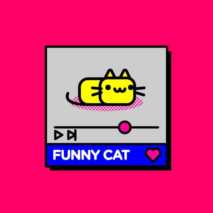 FunnyCat.mp4 - youtube, video, design - superjpeg | ello