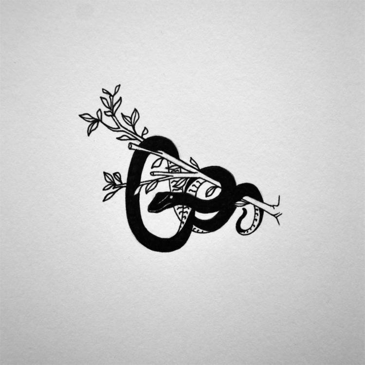 Le serpent - illustration, drawing - 3-3-3 | ello