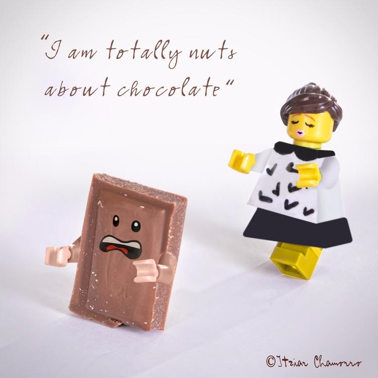 totally nuts chocolate - lego, legominifigures - itziarchamorro | ello