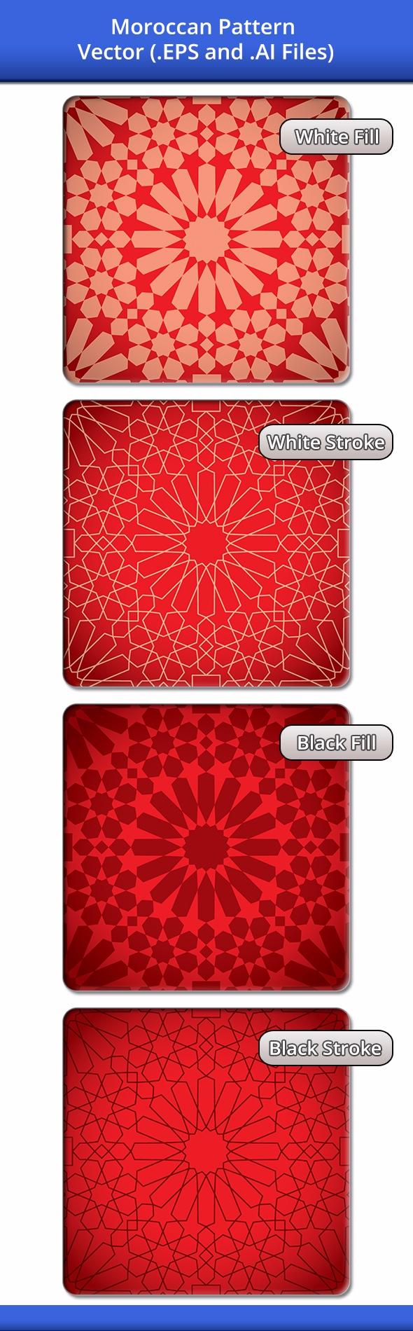 Moroccan Pattern, vector drawin - dinoart | ello