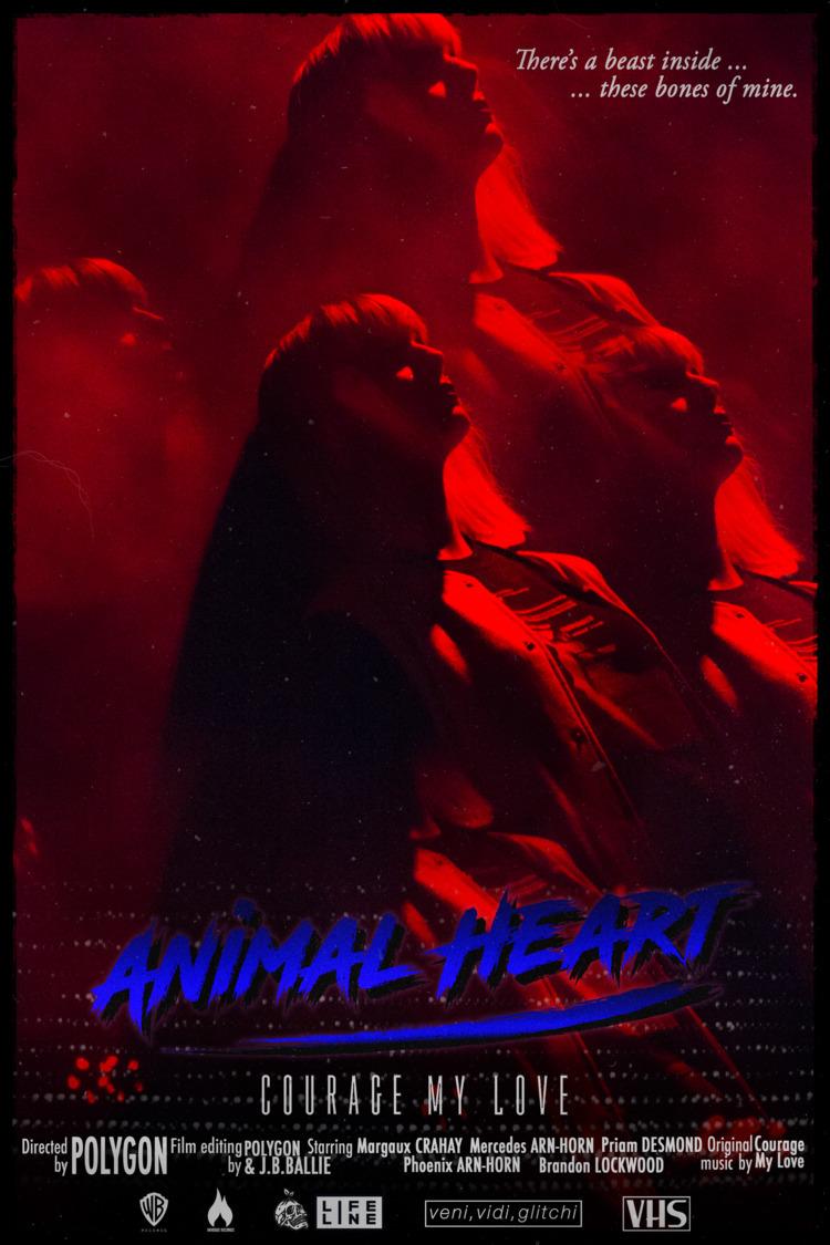 Poster Courage Animal Heart - digitalart - polygon1993 | ello