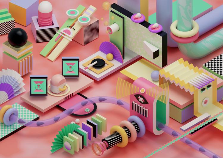 b3D, 3D, abstract, art, illustration - ikyste | ello