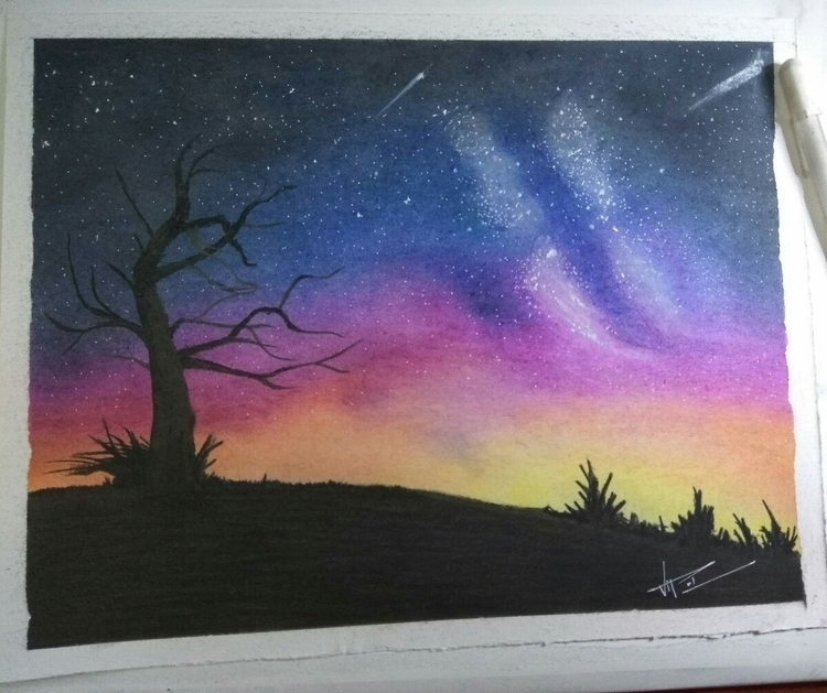 Galaxy soft pastels. pastel sta - leisure_arts_vipul | ello